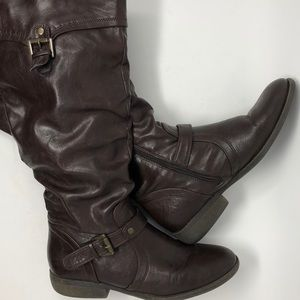 White Mountain Tall Brown Riding Boots